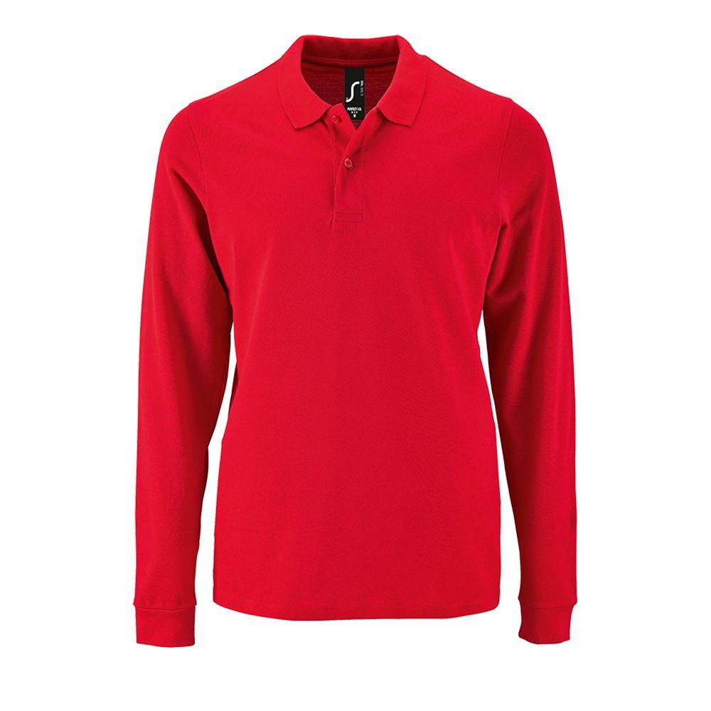 27cf0bc331e Рубашка поло мужская с длинным рукавом PERFECT LSL MEN красная ...