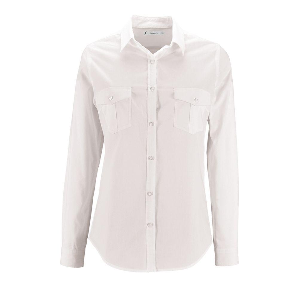 52eb8b43b67e Рубашка женская BURMA WOMEN белая, размер M оптом под логотип