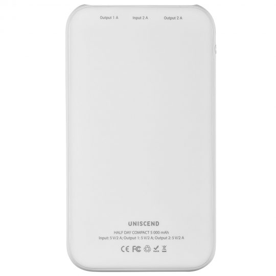 Внешний аккумулятор Uniscend Half Day Compact 5000 мAч, белый