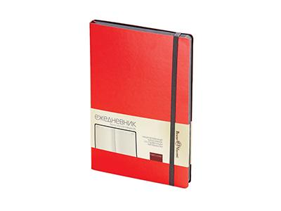 Ежедневник А5 недатированный «Megapolis Soft», красный
