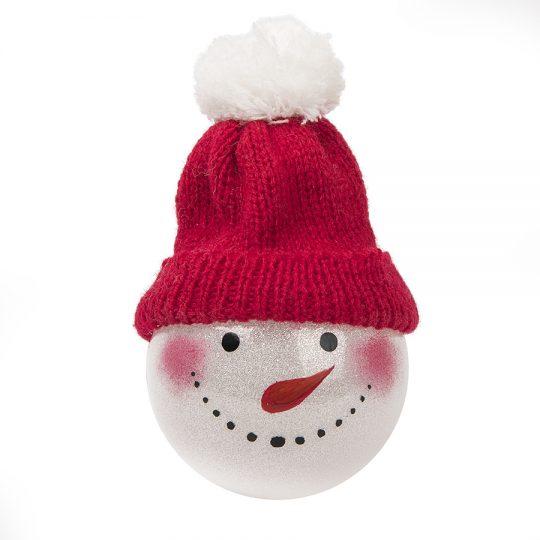 """Шар новогодний """"Snowman"""", диаметр 8 см., пластик"""