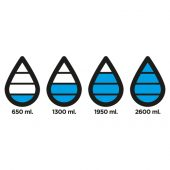 Бутылка для воды Aqua из материала Tritan, синяя, арт. 014439506