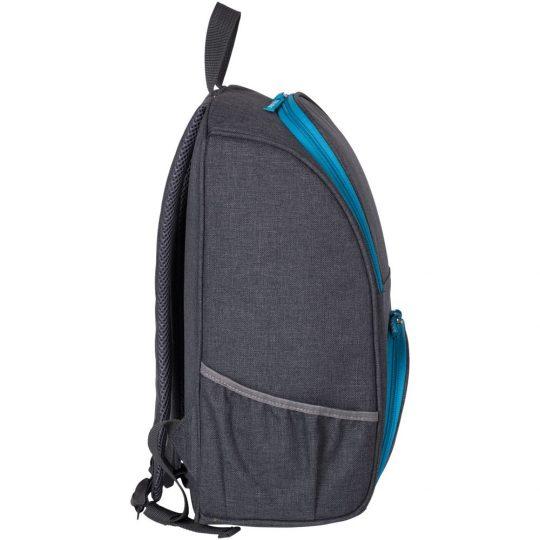 Изотермический рюкзак Liten Fest, серый с синим
