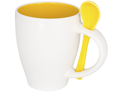 Чашка Nadu с ложкой, желтый, арт. 014856103