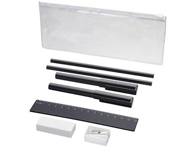 Набор «Mindy»: ручки шариковые, карандаши, линейка, точилка, ластик, черный, арт. 014872303
