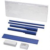 Набор «Mindy»: ручки шариковые, карандаши, линейка, точилка, ластик, синий, арт. 014872503