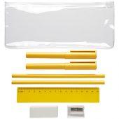 Набор «Mindy»: ручки шариковые, карандаши, линейка, точилка, ластик, желтый, арт. 014872203