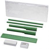 Набор «Mindy»: ручки шариковые, карандаши, линейка, точилка, ластик, зеленый, арт. 014872003