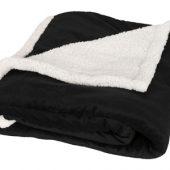 Плед «Sherpa», черный/белый, арт. 014830003