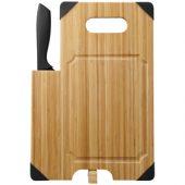 Разделочная доска с ножом «Bamboo», коричневый/черный, арт. 014830303