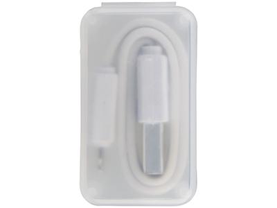 2 в 1 Кабель для зарядки в футляре, белый, арт. 014888603