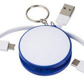 Зарядный кабель 3-в-1, синий, арт. 014893703