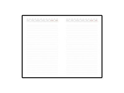 Ежедневник недатированный с индексами А5 «Bergamo», черный (А5)