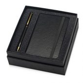 Набор Reporter с ручкой и блокнотом А6, черный, арт. 015524203