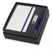 Набор Reporter Plus с флешкой, ручкой и блокнотом А6, синий, арт. 015524603