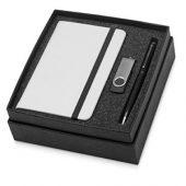 Набор Reporter Plus с флешкой, ручкой и блокнотом А6, черный, арт. 015524503