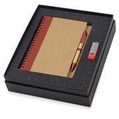 Набор Essentials с флешкой и блокнотом А5 с ручкой, красный, арт. 015524903