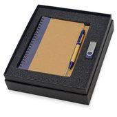 Набор Essentials с флешкой и блокнотом А5 с ручкой, синий, арт. 015524803