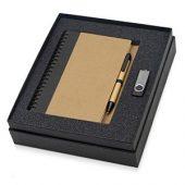 Набор Essentials с флешкой и блокнотом А5 с ручкой, черный, арт. 015524703