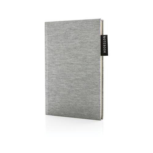 Блокнот Deluxe Jersey, A5, серый, арт. 015562906