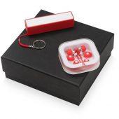 Подарочный набор Non-stop music с наушниками и зарядным устройством, красный, арт. 015631603