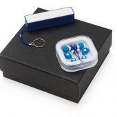 Подарочный набор Non-stop music с наушниками и зарядным устройством, синий, арт. 015631803
