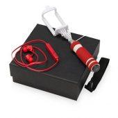 Подарочный набор Selfie с Bluetooth наушниками и моноподом, красный, арт. 015632003