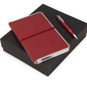 Подарочный набор Silver Sway с ручкой и блокнотом А5, красный, арт. 015630303