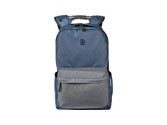"""Рюкзак WENGER 18 л с отделением для ноутбука 14"""" и с водоотталкивающим покрытием, синий/серый"""