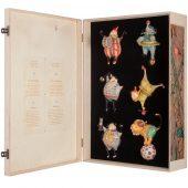 Набор из 6 авторских елочных игрушек Circus Collection