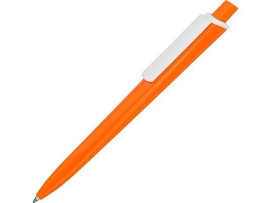 Ручка пластиковая трехгранная шариковая «Lateen», оранжевый/белый, арт. 015664603