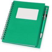 Блокнот Контакт с ручкой, зеленый, арт. 015693703