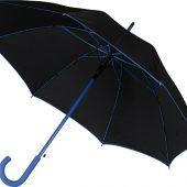 Зонт-трость полуавтоматический, синий, арт. 015699603