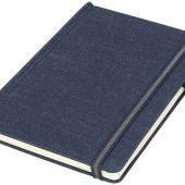 Блокнот Jeans формата A5 из ткани, темно-синий, арт. 015752103