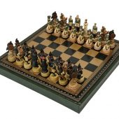Шахматы Бородино, черный/зеленый