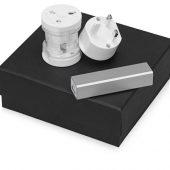 Подарочный набор Charge с адаптером и зарядным устройством, серебристый, арт. 016348203