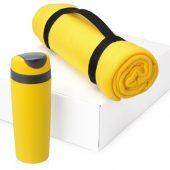 Подарочный набор Cozy с пледом и термокружкой, желтый, арт. 016345303