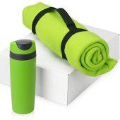 Подарочный набор Cozy с пледом и термокружкой, зеленый, арт. 016345403
