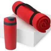 Подарочный набор Cozy с пледом и термокружкой, красный, арт. 016345503