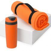 Подарочный набор Cozy с пледом и термокружкой, оранжевый, арт. 016345603