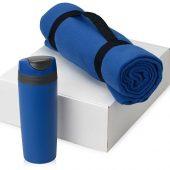 Подарочный набор Cozy с пледом и термокружкой, синий, арт. 016345703