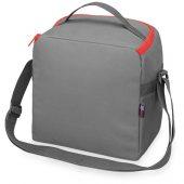 Сумка-холодильник Classic c контрастной молнией, серый/красный, арт. 015813903