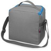 Сумка-холодильник Classic c контрастной молнией, серый/голубой, арт. 015814003