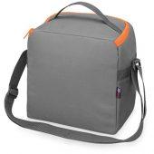 Сумка-холодильник Classic c контрастной молнией, серый/оранжевый, арт. 015814103