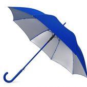 Зонт-трость Silver Color полуавтомат, синий/серебристый