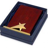 Награда Galaxy с золотой звездой, дерево, металл, в подарочной упаковке, арт. 016590303