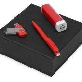 Подарочный набор On-the-go с флешкой, ручкой и зарядным устройством, красный (8Gb), арт. 016611003