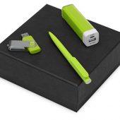 Подарочный набор On-the-go с флешкой, ручкой и зарядным устройством, зеленое яблоко (8Gb), арт. 016610903