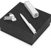 Подарочный набор On-the-go с флешкой, ручкой и зарядным устройством, белый (8Gb), арт. 016610703