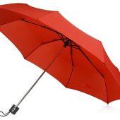 Зонт складной Columbus, механический, 3 сложения, с чехлом, красный, арт. 016467803
